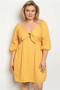 S18-4-1-D55999X MUSTARD PLUS SIZE DRESS 2-2-2-1
