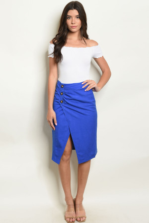 S16-4-5-S10354 ROYAL BLUE SKIRT 3-2-1