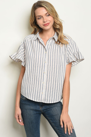 S17-8-2-T24430 NAVY STRIPES TOP 1-1-1
