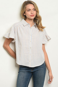 S25-7-3-T24430 BLUE STRIPES TOP 2-2-2
