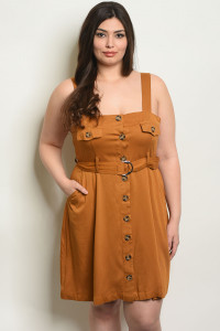 S13-12-2-D94025X CAMEL PLUS SIZE DRESS 2-3-2-1