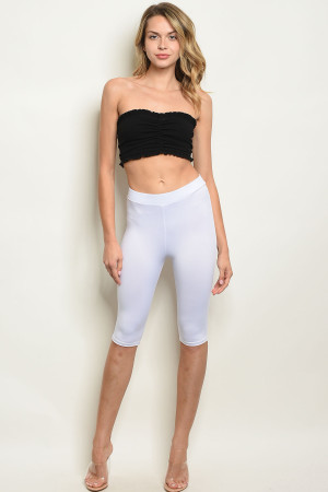 C31-B-1-C5882 WHITE CAPRI PANTS 2-2-2
