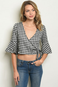 S22-9-1-T8440 BLACK CHECKERED TOP 1-2-2
