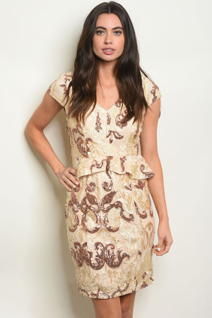 S10-7-1-D24785 NUDE WITH SEQUINS DRESS 2-2-2-1
