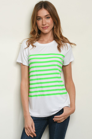 C81-B-3-T4468 OFF WHITE GREEN TOP 2-2-2-1