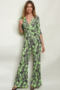 S3-6-1-J4222 NEON GREEN WITH PAISLEY PRINT JUMPSUIT 2-2-2