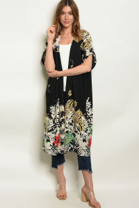 S4-3-1-C20350 BLACK WITH FLOWER PRINT CARDIGAN 2-2-2