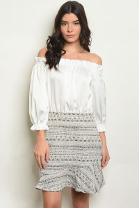 S11-15-2-D23556 OFF WHITE CREAM DRESS 2-2-2