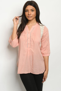 S13-3-5-T3224 BLUSH TOP 2-2-2