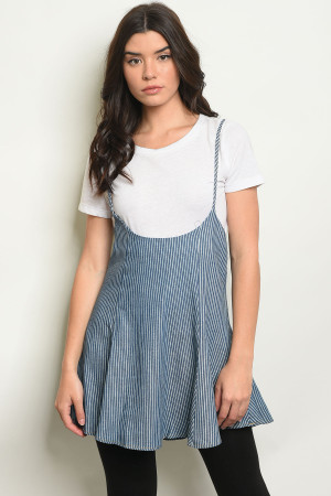 S11-20-5-O3663 BLUE DENIM STRIPES TOP 2-2-2