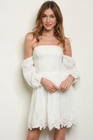 S23-4-4-D11343 OFF WHITE DRESS 1-2-2-1