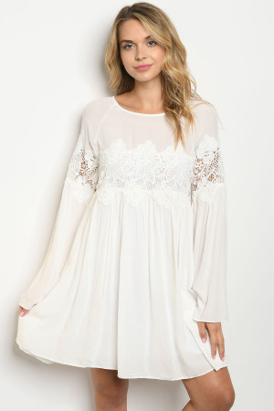 S8-1-1-D11069 OFF WHITE DRESS 1-2-2-1