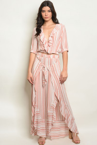 C70-A-7-SET102238 BLUSH STRIPES TOP & PANTS SET 2-2-2