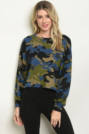 S11-17-4-T3331 BLUE CAMOUFLAGE TOP 2-2-2