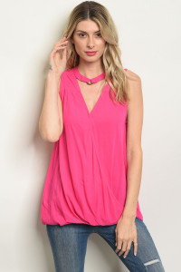 S19-11-6-T7109 FUCHSIA TOP 2-2-2