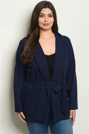 C52-A-6-J1968X NAVY PLUS SIZE JACKET 2-2-2