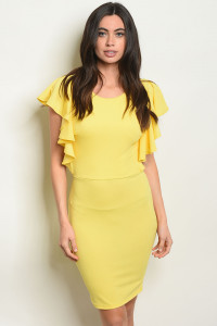 S20-7-2-D854 YELLOW DRESS 1-4