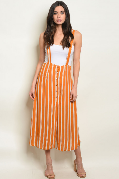 S23-3-3-O60478 MUSTARD STRIPES OVERALL 2-2-2