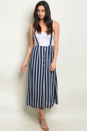 S25-4-3-O60478 NAVY STRIPES OVERALL 2-2-2
