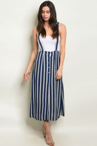 S19-9-1-O60478 NAVY STRIPES OVERALL 3-2-2