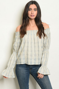 S19-9-1-T24465 BLUE STRIPES TOP 2-1-1