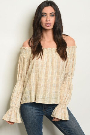 S14-3-3-T24465 TAUPE TOP 2-2-2