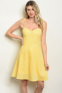 S22-1-1-D1384 YELLOW DRESS 1-1-2-2-1