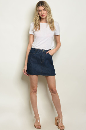 S22-2-2-NA-S0340 DARK BLUE DENIM SKIRT 1-2-2-1