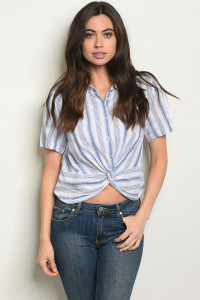 S16-2-3-T24472 NAVY STRIPES TOP 2-2-2