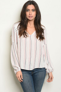 S15-4-2-T24473 PINK STRIPES TOP 2-2-2