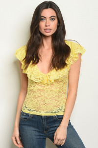 C58-B-1-T4364 YELLOW MESH TOP 2-2-2