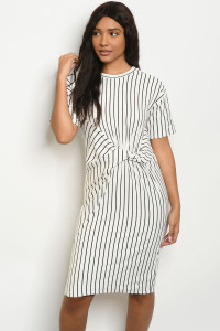 S18-1-3-D32737 WHITE STRIPES DRESS 2-2-2