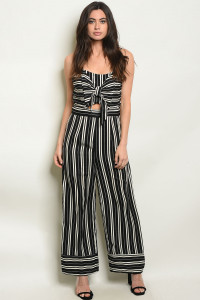 S18-5-2-J71468 BLACK STRIPES JUMPSUIT 2-2-2