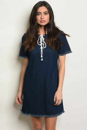 S16-4-4-D068 DARK DENIM DRESS 3-2-1