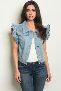 S16-6-1-V02 BLUE DENIM VEST 2-2-2