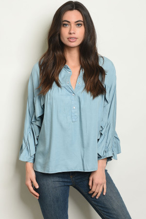 S20-1-1-T161 BLUE DENIM TOP 2-2-2