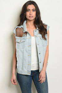 S20-1-1-V164 LIGHT BLUE DENIM VEST 2-2-2