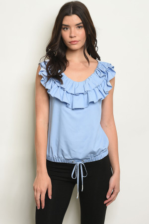 S19-7-2-T741 BLUE WHITE TOP 2-2-2