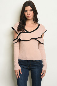 S16-3-3-T01 MAUVE BLACK TOP 2-2-2