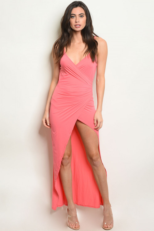 S19-11-6-MD9213 CORAL DRESS 2-2-2