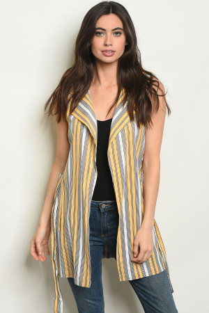 S25-1-3-V5017 YELLOW STRIPES VEST 2-2-2