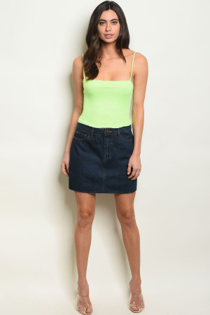 S10-6-3-S0975 DARK DENIM SKIRT 3-2-1