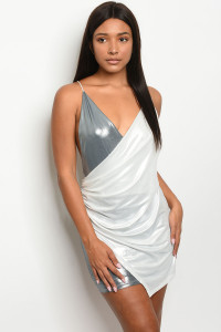 C73-A-5-D7488 WHITE SILVER DRESS 2-2-2  ***WARNING: California Proposition 65***