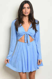 S9-10-4-D2155 BLUE WHITE DRESS 3-2-1