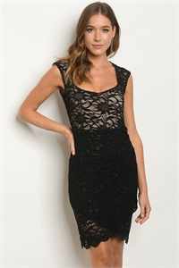 Z-B-D48062 BLACK NUDE DRESS 1-2-2-2-1