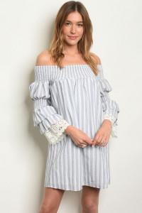 C83-A-6-D1804 GRAY STRIPES DRESS 1-2-2