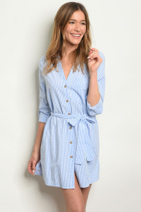 S19-7-1-D32045 BLUE STRIPES DRESS 4-2-1