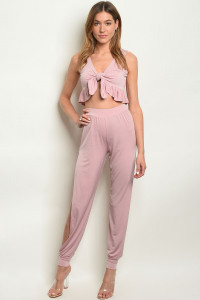 C24-A-2-SET4710 BLUSH TOP & PANTS SET 2-2-2