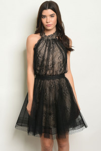 S13-3-3-NA-D4934 BLACK NUDE DRESS 3-2-1