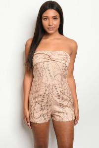 S13-8-5-NA-R5306 BLUSH GOLD OFF SHOULDER ROMPER 3-2-1